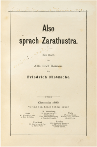 Titelblad Also sprach Zarathustra 1883